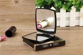 小香隨身便攜折疊雙面化妝鏡放大正常翻蓋式彩妝鏡小號梳妝補裝鏡 熊貓本