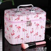 化妝包小號韓國化妝箱便攜簡約少女心手提收納盒品大容量可愛『小淇嚴選』