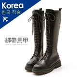 靴.方頭馬甲厚底長靴-大尺碼-FM時尚美鞋-韓國精選.Shine
