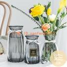3件套 北歐玻璃插花瓶透明干花創意客廳插花水養簡約百合擺件【白嶼家居】