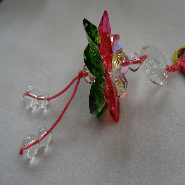 【Ruby工作坊】 NO.61切M三彩水晶觀音蓮花球吊飾(加持祈福)