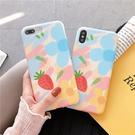 ins小清新草莓小花蘋果x手機殼iphone8plus/7/xs max/xr/6s軟殼女