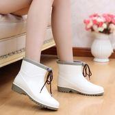 雨鞋  短筒時尚雨鞋女夏季成人雨靴韓國防滑水鞋女套鞋學生膠鞋中筒水靴 古梵希