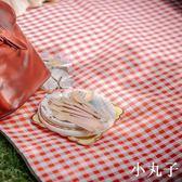 野餐墊紅白格加厚戶外便攜防潮墊可折疊帳篷防水野營地墊