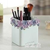 創意時尚可愛商務禮品擺件樹脂筆筒蝴蝶花桶筆架 qz2557