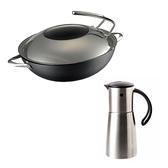 (組)MASTER大廚鐵炒鍋36cm+自動開啟防漏油壺360ML-304不鏽鋼