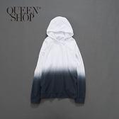 Queen Shop【01096109】男裝 親子系列漸層渲染連帽上衣 S/M/L*現+預*