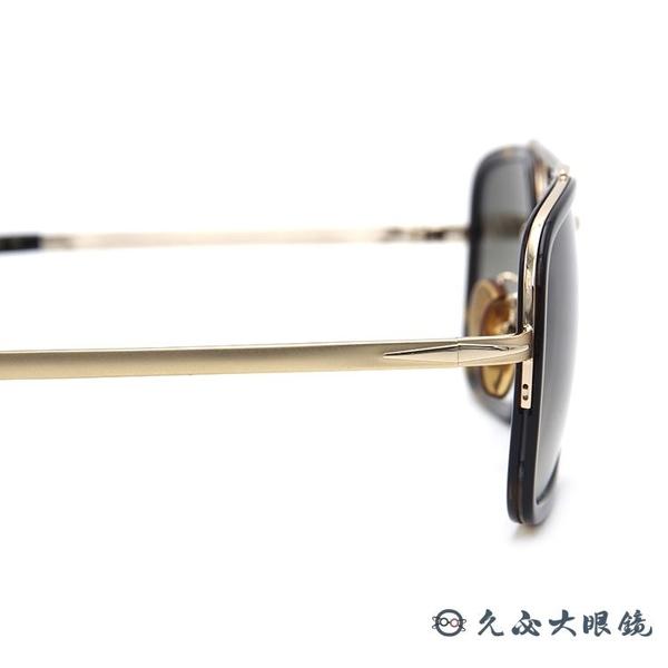 DB EYEWEAR 貝克漢設計品牌 DB 7002S (琥珀-金) 復古 雙槓 太陽眼鏡 久必大眼鏡
