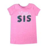 OSHKOSH T恤短袖上衣 粉繡字 | 女童衣服(兒童/小孩/幼童)