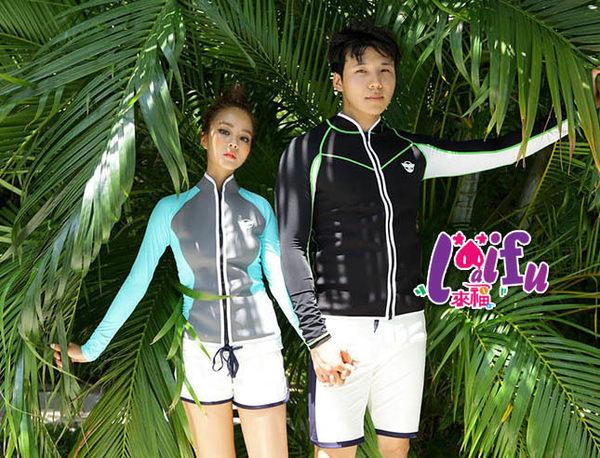 來福外套,V256外套防寒外套防曬長袖外套泳衣加厚拉鍊浮潛外套情侶泳衣,單男外套售價1300元