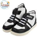 《布布童鞋》台灣製黑色經典中筒兒童預防矯正鞋休閒鞋(19~24公分) [ Z1E502D ]