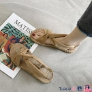 熱賣草編鞋 泰國編織涼鞋女2021夏季新款法式復古羅馬鞋ins仿麻底防滑沙灘鞋 coco