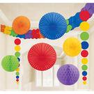 天花板裝飾組9入-彩虹