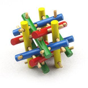 智力創意玩具 成人益智玩具 孔明球魯班木 彩色十二姐妹
