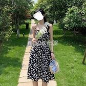 小雛菊碎花洋裝勤2021新款仙女顯瘦裙子超仙森系法式少女吊帶裙 快速出貨