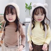 韓系木耳邊高領長袖上衣 童裝 高領上衣