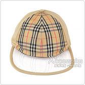 BURBERRY VINTAGE格紋帆布棒球帽(沙棕)