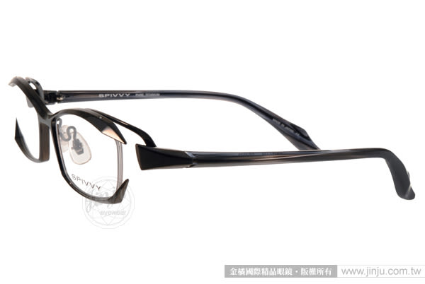 SPIVVY 光學眼鏡 SP1179 IPBK (灰黑) 日本工藝完美質感 # 金橘眼鏡