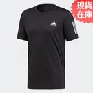 【現貨】ADIDAS 3-STRIPES CLUB 男裝 短袖 慢跑 訓練 網球 透氣 快乾 黑【運動世界】DU0859
