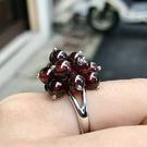 『晶鑽水晶』天然紅石榴 活動戒指 可調式 約6mm 超可愛花型 海底輪 血液循環 母親節禮物 附禮盒