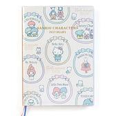 Sanrio 三麗鷗明星 2019日誌本(B6方格-復古畫框)★funbox★_333972