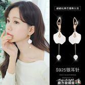 顯臉瘦的耳環女氣質韓國個性百搭長款流蘇耳墜夸張耳飾品純銀耳釘 魔方數碼館