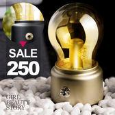 SISI【G7016】英倫復古創意玻璃燈泡小夜燈USB充電LED節能省電小夜燈生日聖誕節交換禮物