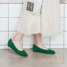 現貨 平底娃娃鞋推薦 星心公主 全真皮舒適好穿跟鞋 版型偏大 21-26 EPRIS艾佩絲-薄荷綠