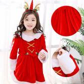 圣誕節兒童服裝女童套裝衣服