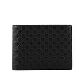【GUCCI】Guccissima壓印牛皮對開零錢袋短夾(黑色) 367287 BMJ1N 1000