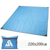 PUSH!戶外休閒用品露營防潮地墊野餐墊P126藍色藍色