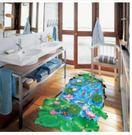 預購-3d立體荷塘魚兒地板貼