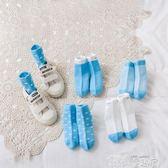 嬰兒襪 秋冬兒童襪子嬰兒襪子純棉春秋薄款襪寶寶童襪新生兒地板襪5雙裝 童趣屋