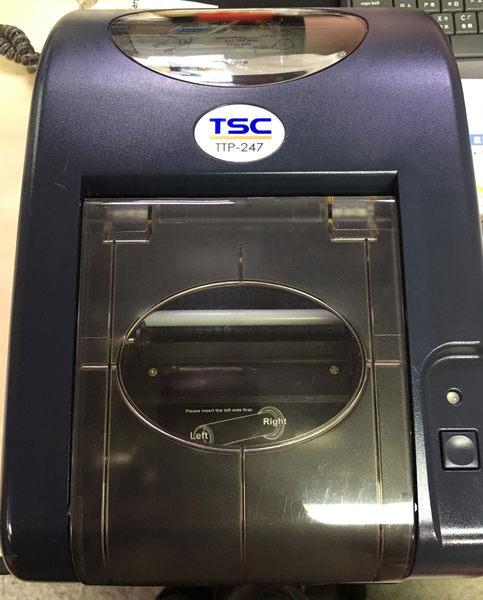 【二手機/保固三個月】TSC TTP-247 桌上型商用條碼列印機(熱感式&熱轉式)