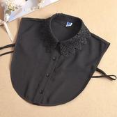 假領子襯衫穿搭假領片 洋裝罩衫大學T針織衫內搭黑白色[E1479] 滿額送愛康衛生棉預購.朵曼堤洋行