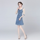 VK精品服飾 歐美風時尚透視蕾絲網紗袖拼...