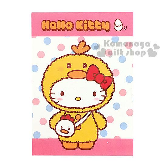 〔小禮堂〕Hello Kitty 自黏便利貼《白粉.點點.小雞.站姿》2017金雞報喜系列 4719585-00548