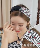 韓國簡約歐美打結發飾頭飾品夏薄款清新寬交叉發帶發箍女成人艾美時尚衣櫥
