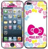 Hello Kitty彩繪貼 iPhone 5s 5 iPhone SE 螢幕保護貼+背蓋貼   (801)