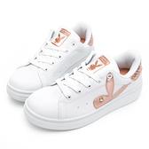 PLAYBOY 後跟品牌logo厚底休閒鞋-白金-Y5718