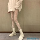 絲襪 白色花藤洛麗塔絲襪女春夏薄款性感蘿莉防勾絲美腿鏤空打底連網襪 快速出貨