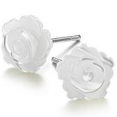925純銀耳環(耳針式)貝殼-精美氣質玫瑰花生日情人節禮物女耳飾2款73ag50【巴黎精品】