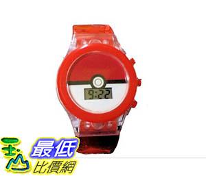 [106美國直購] 手錶 Pokemon Pokeball Light Up Strap Boys LCD Watch  B01M26EOXE