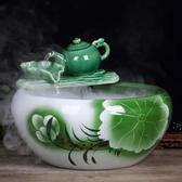 陶瓷魚缸流水噴泉客廳小型創意金魚缸養魚盆擺件客廳裝飾景 時尚小鋪