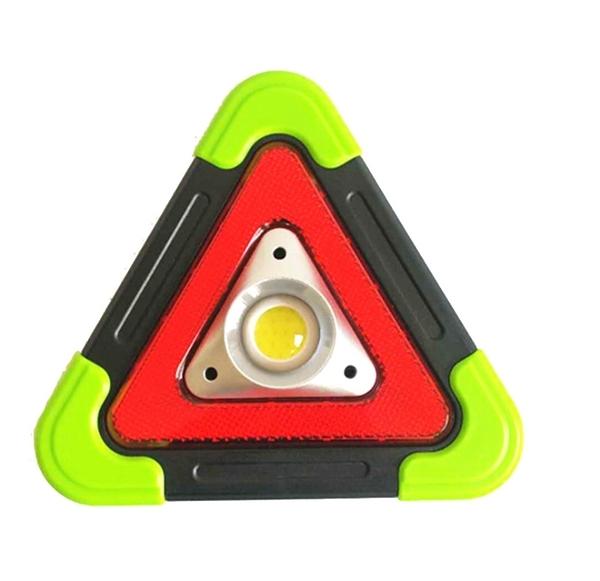 太陽能汽車用三角警示燈/三腳架/警示牌/照明燈 綠色