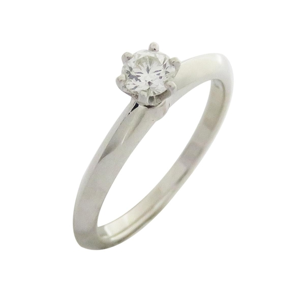 Tiffany & Co 蒂芬妮 Solitaire系列0.21ct 六爪單鑽柏金戒指【二手名牌 BRAND OFF】