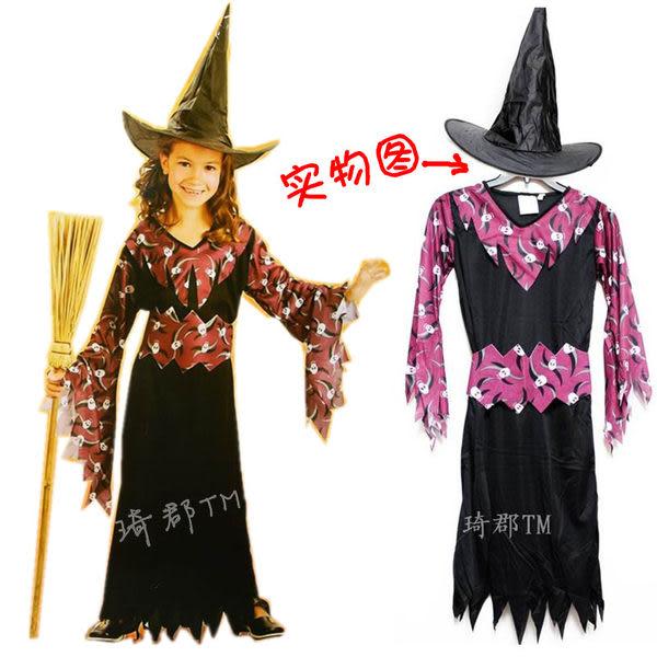 萬聖節服裝  可愛版兒童骷髏女巫裝