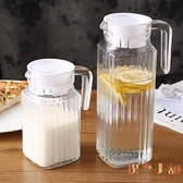 玻璃冷水壺大容量扎壺家用帶蓋涼水壺裝涼白開瓶【倪醬小舖】