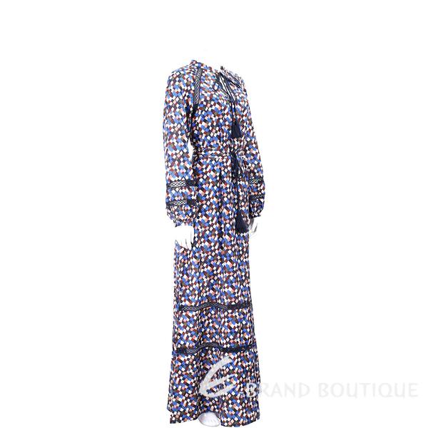 TORY BURCH Sonia 縷空細節馬賽克流蘇度假長洋裝 1820153-97