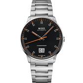 MIDO 美度 COMMANDER 香榭系列大日期機械錶-42mm(M0216261105100)